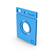Symbol Washing Machine Blue PNG & PSD Images