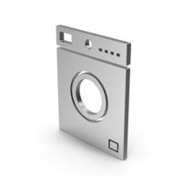 Symbol Washing Machine Silver PNG & PSD Images