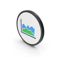 Icon Graph Green Blue PNG & PSD Images