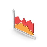 Symbol Graph Red Orange PNG & PSD Images