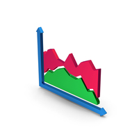 Graph Colored Metallic PNG & PSD Images