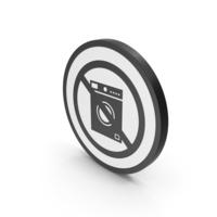 Icon No Washing Machine Black PNG & PSD Images