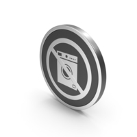 Silver Icon No Washing Machine PNG & PSD Images