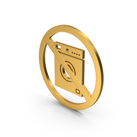 Symbol No Washing Machine Gold PNG & PSD Images