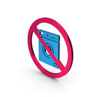 Symbol No Washing Machine Metallic PNG & PSD Images