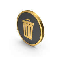 Gold Icon Trash PNG & PSD Images