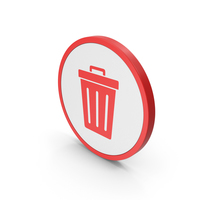 Icon Trash Red PNG & PSD Images