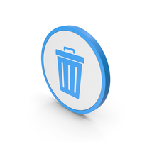 Icon Trash Blue PNG & PSD Images