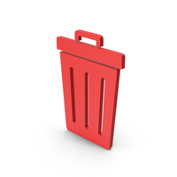 Symbol Trash Red PNG & PSD Images
