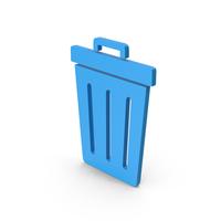 Symbol Trash Blue PNG & PSD Images