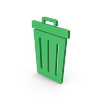 Symbol Trash Green PNG & PSD Images
