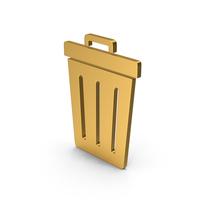 Symbol Trash Gold PNG & PSD Images