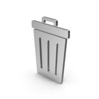 Symbol Trash Silver PNG & PSD Images