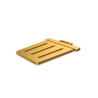 Gold Symbol Trash PNG & PSD Images