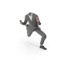 Success Happy Hads Up Suit Grey PNG & PSD Images