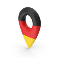 Germany Travel Pin Flag PNG & PSD Images