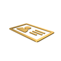 Gold Symbol ID Card PNG & PSD Images