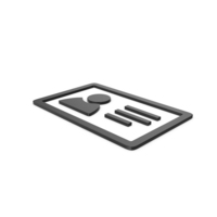 Black Symbol ID Card PNG & PSD Images