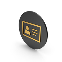 ID Card Gold Icon PNG & PSD Images