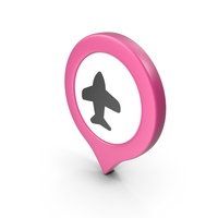 Location Sign Airport Pink PNG & PSD Images