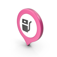 Location Sign Gas Station Pink PNG & PSD Images