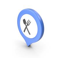 Location Sign Restaurant Blue PNG & PSD Images