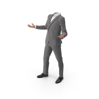 Confused Suit Grey PNG & PSD Images