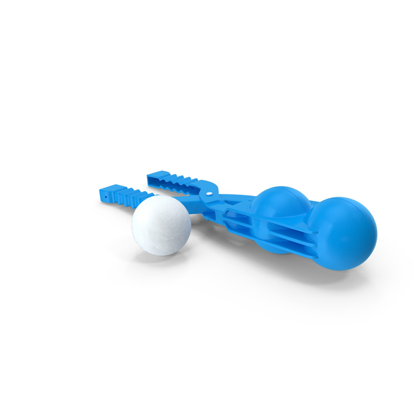 Double Snowball Maker Clip with Snowball PNG & PSD Images