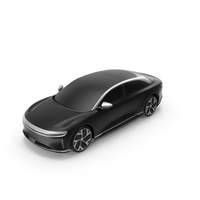 Electric Luxury Sedan Exterior Only PNG & PSD Images