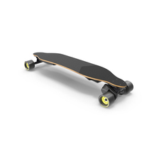 Electric Skateboard with Belt Drive Motor PNG & PSD Images