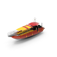 Excursion Boat Black Red PNG & PSD Images