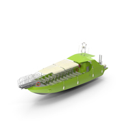 Excursion Boat Green PNG & PSD Images
