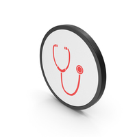 Icon Stethoscope Red PNG & PSD Images