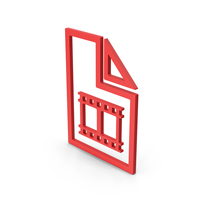 Symbol Video File Red PNG & PSD Images