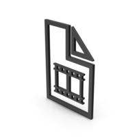 Symbol Video File Black PNG & PSD Images