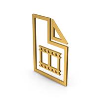Symbol Video File Gold PNG & PSD Images