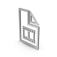 Symbol Video File Silver PNG & PSD Images