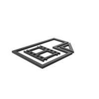 Black Symbol Video File PNG & PSD Images