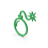Symbol Bomb Green PNG & PSD Images