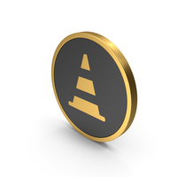 Gold Icon Road Cone PNG & PSD Images