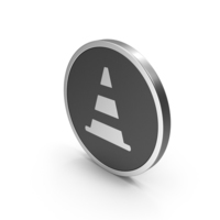 Silver Icon Road Cone PNG & PSD Images