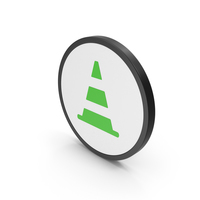 Icon Road Cone Green PNG & PSD Images