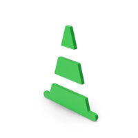 Symbol Road Cone Green PNG & PSD Images