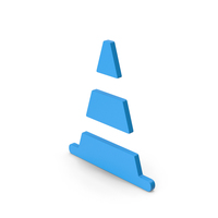 Symbol Road Cone Blue PNG & PSD Images