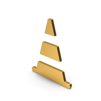 Symbol Road Cone Gold PNG & PSD Images