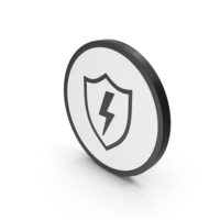 Icon Shield And Lighting PNG & PSD Images