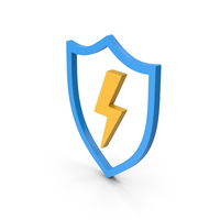 Symbol Shield And Lighting Colored PNG & PSD Images