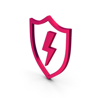 Symbol Shield And Lighting Metallic PNG & PSD Images