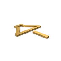 Gold Symbol Sound Minus PNG & PSD Images