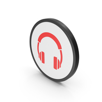 Icon Headphones Red PNG & PSD Images